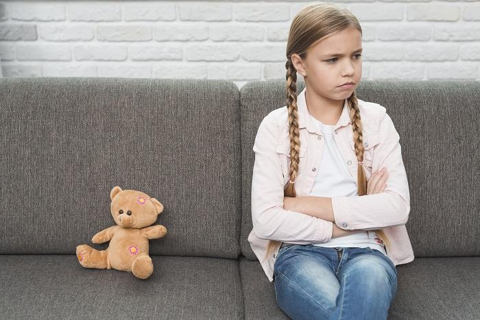 portrait sad girl